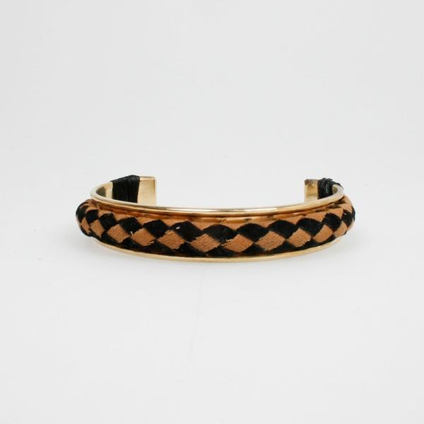 Bracelet Beige Schwarz