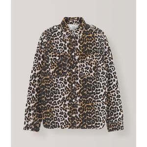 Print Denim Leopard