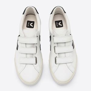 3-Lock Logo Leather Extra White Black