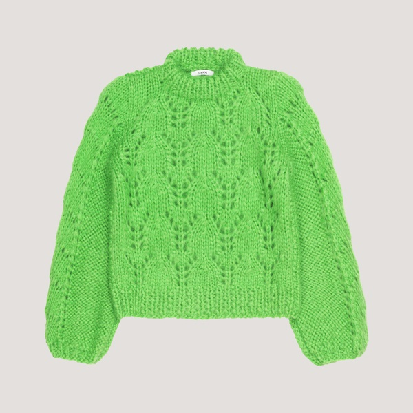 The Julliard Mohair Pullover Classic Green