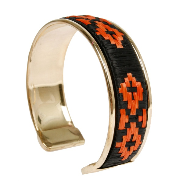 Grace Armreif Gold Schwarz Orange