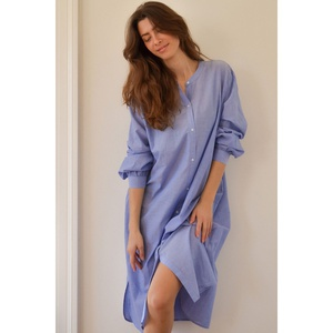 Basic Shirt Dress Dustyblue