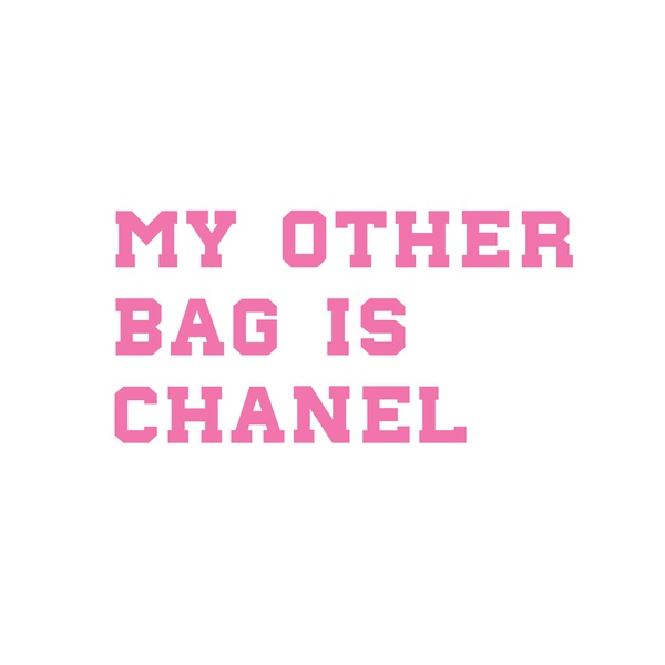 Totebag my other bag is chanel