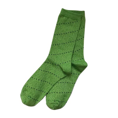 Dot Stripe Socks Green