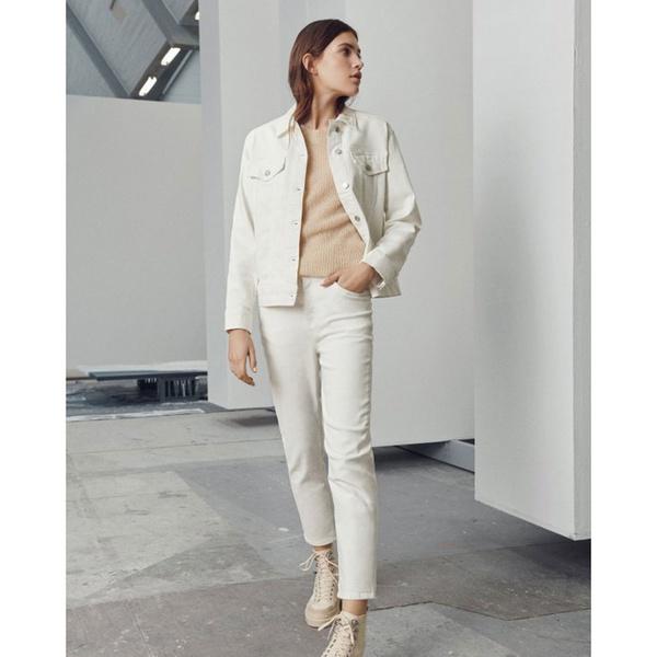 Melanie Denim Jacket Egret