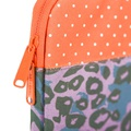 "ANCHOR SLEEVE 15"" purple leopard orange polka dot"