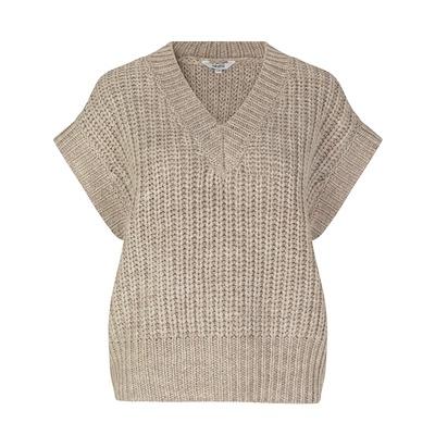 Katya Knit Vest Grey Sand Melange