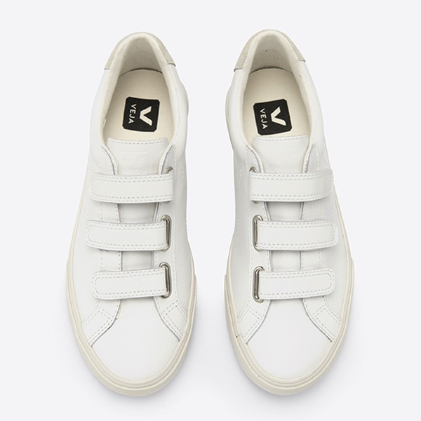 3-Lock Leather Extra White