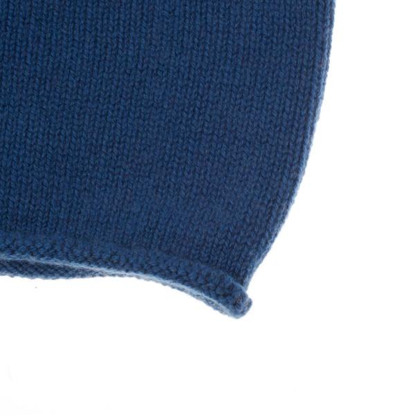 Kaschmir Strickmütze Blau