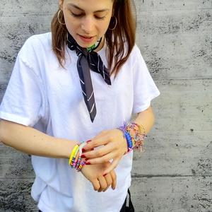 Armband Rainbow White