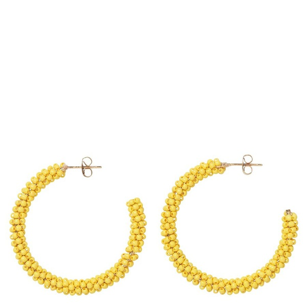 Ohrringe Hoop Solid Yellow