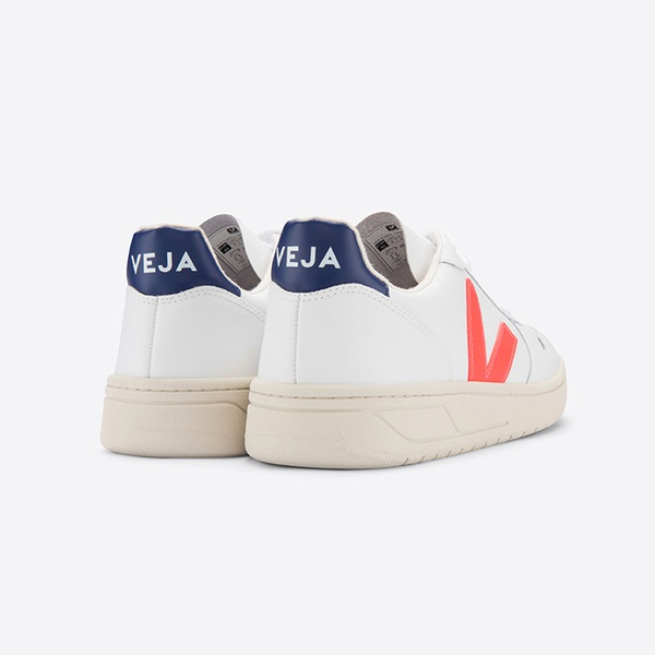 V-10 Leather Extra White Orange Fluo Cobalt