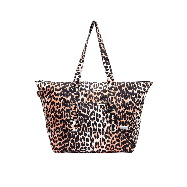 Recycled Tech Fabric Packable Tote Leopard