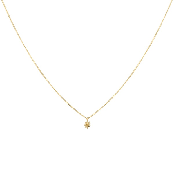 North Star Necklace Silver Goldplated