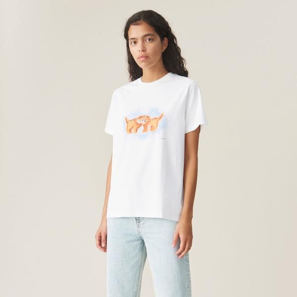 T-Shirt Cat Bright White