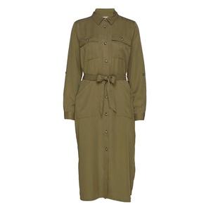 Eleena Long Sleeve Dress Military Olive