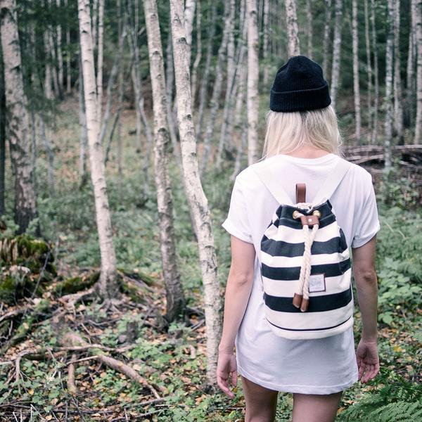 Kollegg Backpack Stripes Black/White