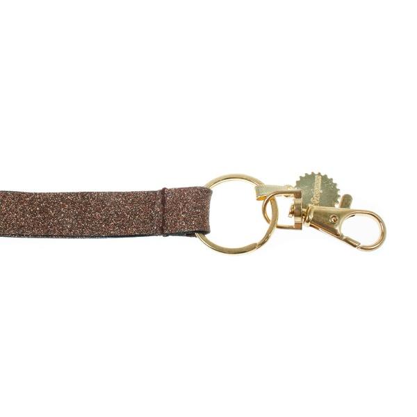 Schlüsselbändel Glitter Bronze