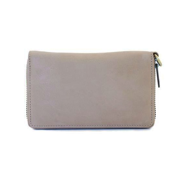 Dixie Wina Lux Leather Wallet Light Grey