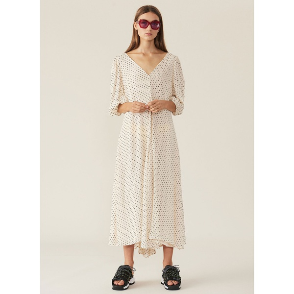 Puff Sleeve Dress Tapioca