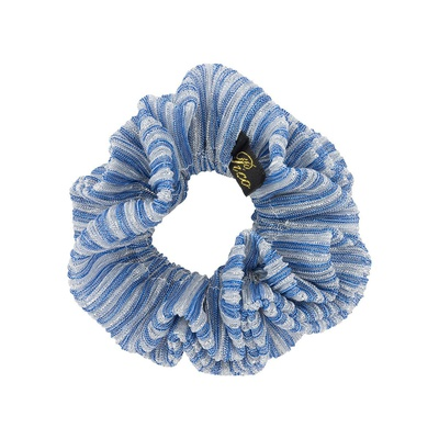 Metallic Scrunchie Denim Stripe