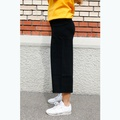 Wide Knit Trousers Black