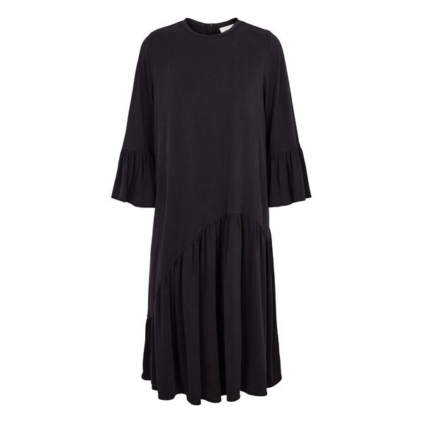 Celeste Ruffle Dress Black