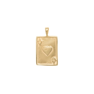 Ace Necklace Charm Silver Goldplated