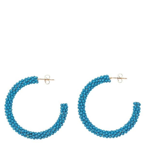 Ohrringe Hoop Solid Baby Blue