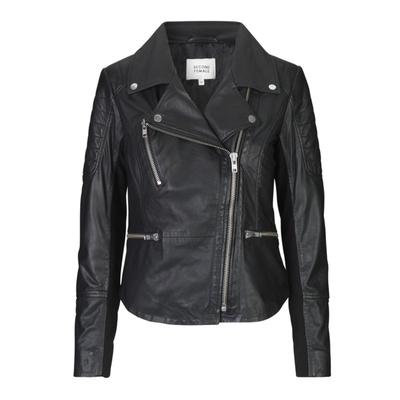 Ellie Leather Jacket Black