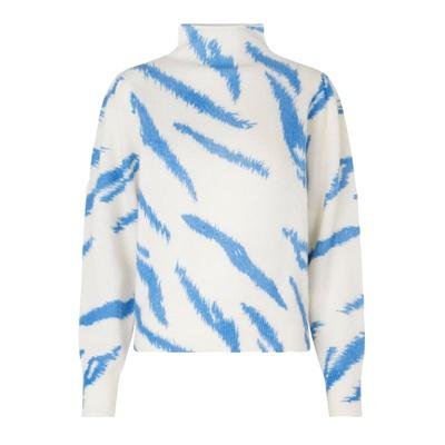Pullover Rego Knit T-Neck Blue Bonnet