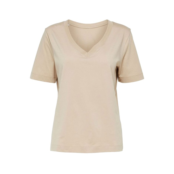 Standard V-Neck T-Shirt White Pepper