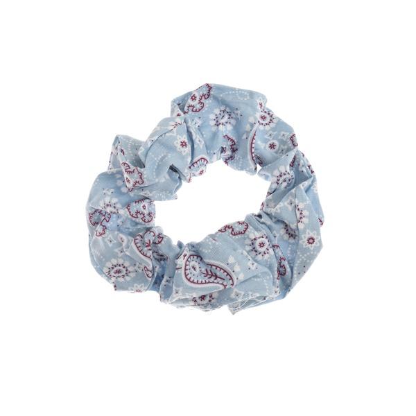 Paisley Scrunchie Light Blue