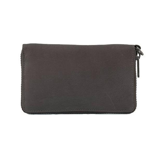 Dixie Wina Lux Leather Wallet Dark Grey