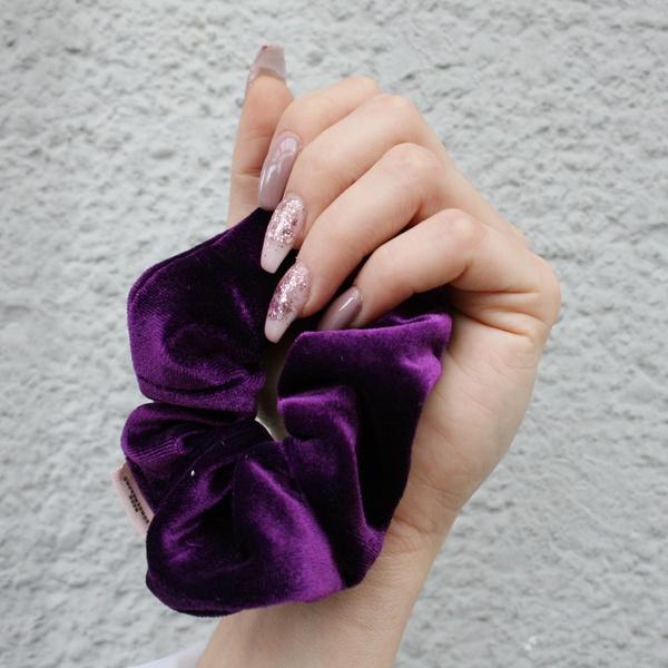 Velvet Haargummi Purple